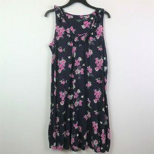 Lauren Ralph Lauren Small Navy Floral Dress 3W710